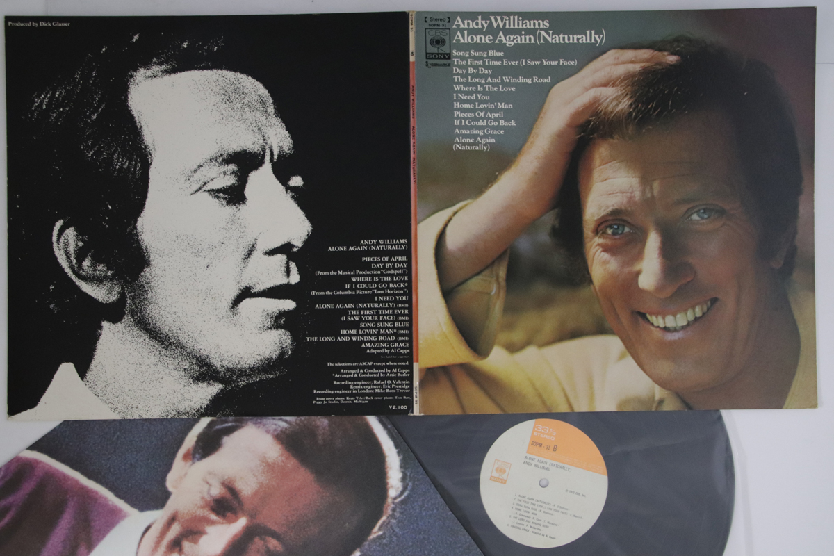 Details about LP/GF ANDY WILLIAMS Alone Again (Naturally) SOPM31 CBS SONY  JAPAN Vinyl