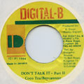 Cocoa Tea, Buccanneer - Don't Talk It Part 2 (Digital B)