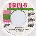 Tony Rebel - One Word (Digital B)