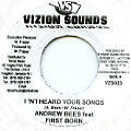 Andrew Bees, First Born - I 'N' I Heard Your Songs (Vizion Sounds)