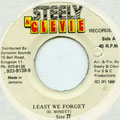 Size 2 - Least We Forget (Steely & Clevie)