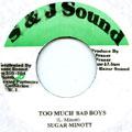 Sugar Minott - Too Much Bad Boys (S & J Sound)