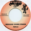 Papa B - Reggae Come From