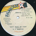 ET Webster - Don't Make Me Over (Picture Sleeve)