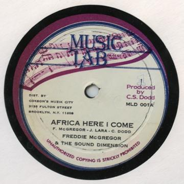"Freddie McGregor - Africa Here I Come (Music Lab 10"")"