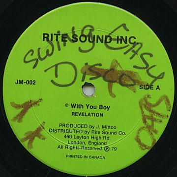 Revelation - With You Boy (Rite Sound Inc US)