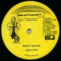 Jigsy King - Don't Know (How Yu Fi Sey Dat)