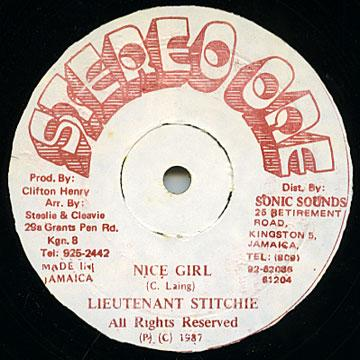 Lt Stitchie - Nice Girl (Stereo One)