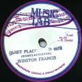 "Winston Francis - Quiet Place (Music Lab US 10"")"