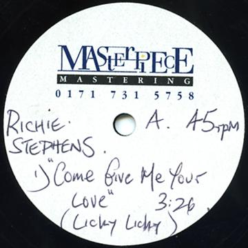 "Richie Stephens, General Degree - Come Give Me Your Love (Unknown Remix) (Dub Plate 10"")"