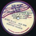 "Winston Francis - Quiet Place (Music Lab US 10"")"