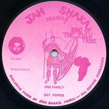 SGT Pepper - One Family (Jah Shaka UK)