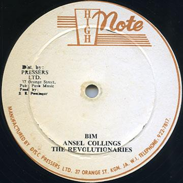 Ansel Collins, Revolutionaries - Bim (Roach In A Dub) (High Note)