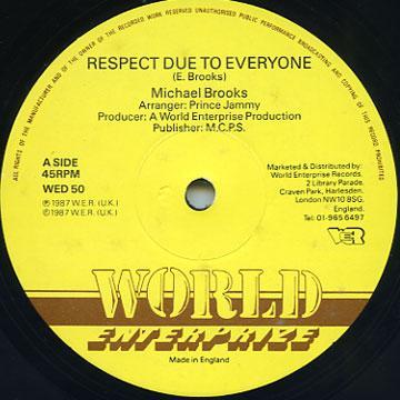 Michael Brooks - Respect Due To Everyone (World Enterprise UK)