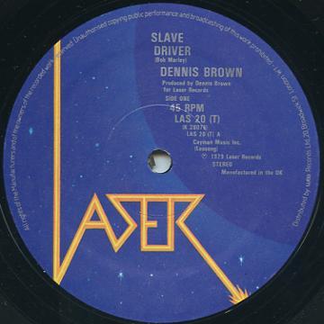 Dennis Brown, Ranking Joe - Slave Driver (Laser UK)