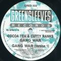 Cocoa Tea, Cutty Ranks - Gang War; (Version 1) (Greensleeves UK)