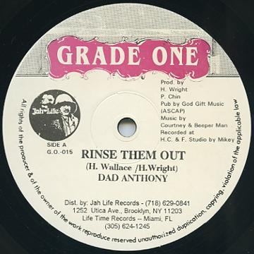 Dad Anthony - Rinse Them Out (Grade One US)