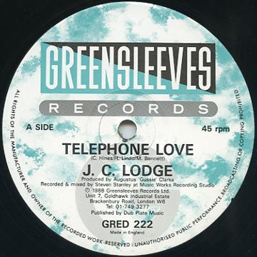 JC Lodge - Telephone Love (Greensleeves UK)