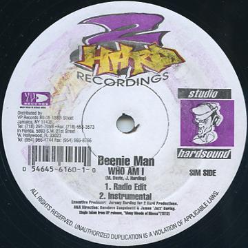 Beenie Man - Who Am I (Radio Edit); (Instrumental) (2 Hard US)