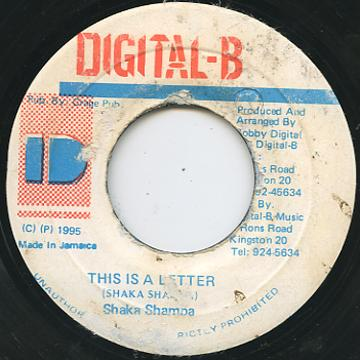Shaka Shamba - This Is A Letter (Digital B)