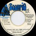 Dennis Brown - Where Did All The Love Go (Black Scorpio)