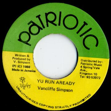 ReggaeCollector com - Vancliffe Simpson - Yu Run A Ready