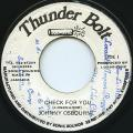 Johnny Osbourne - Check For You (Thunder Bolt)