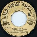 Carlton Livingston - Miss Know It All (Midnight Rock)