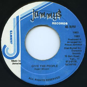 Sugar Minott - Give The People (Jammys)