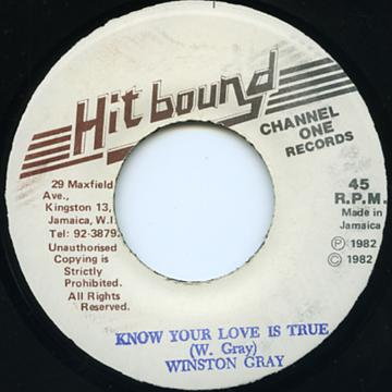 Winston Gray - Know Your Love Is True (Hit Bound)