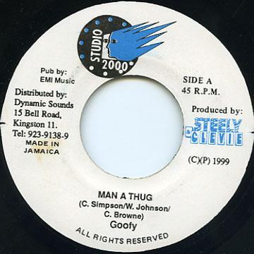 ReggaeCollector com - Mr G (Goofy) - Man A Thug (Studio 2000)