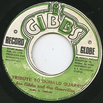 Joe Gibbs, Professionals - Tribute To Donald Quarrie (Joe Gibbs)
