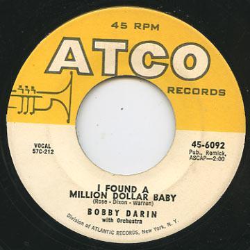 レゲエコレクター.com - Bobby Darin - I Found A Million Dollar Baby ...