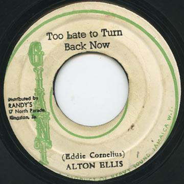 Alton Ellis - Too Late To Turn Back Now (Giant)