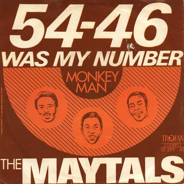 Toots and the Maytals – 54-46 Was My Number Lyrics ...