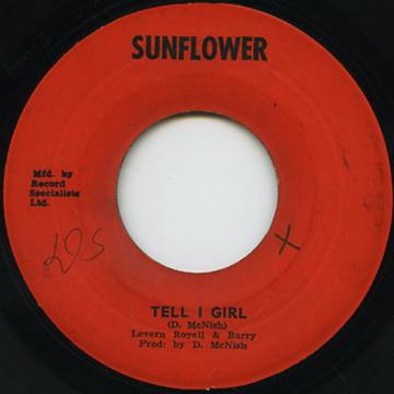 reggaecollector com levern royell barry tell i girl sunflower