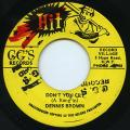 Dennis Brown - Don't You Cry (GG's Hit)