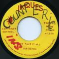 Jah Devon (Val Bennett) - To Take It All (Jaques)