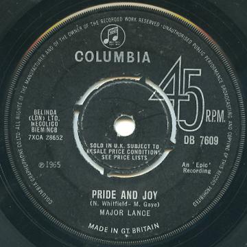 Major Lance - Pride And Joy (Columbia UK)