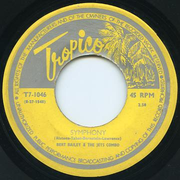 Bert Bailey, Jets Combo - Symphony (Tropico (Trinidad))