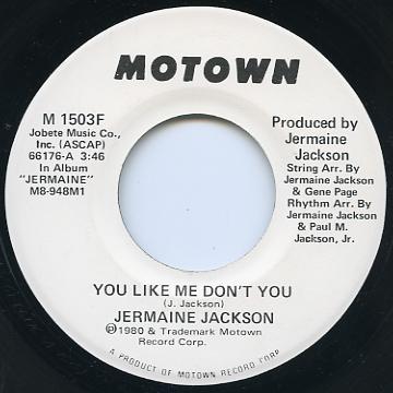 Jermaine Jackson - You Like Me Don't You (Motown US)