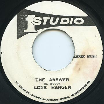 Lone Ranger - Answer (Studio One)