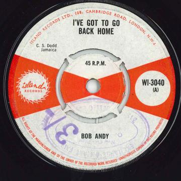 I've Got To Go Back Home / Rudy Girl