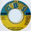Dennis Brown - Say What You Say