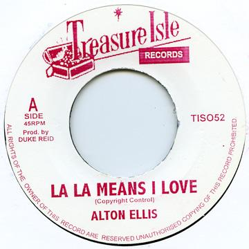 alton ellis la la means i love you 7 レコード レゲエレコード
