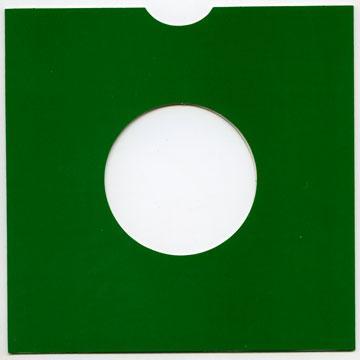 "7"" 緑 厚紙"