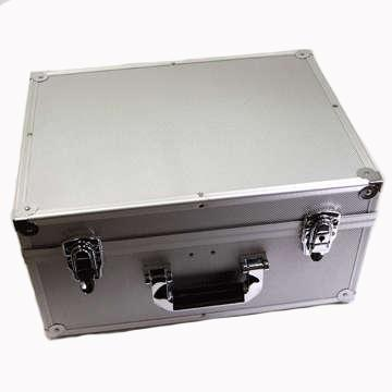 "Record Case - 7"" Aluminium (Holds200) -- Silver (Import England)"
