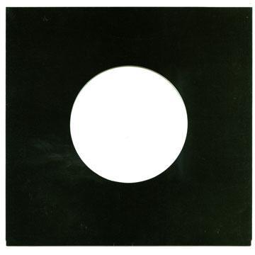 "7"" 黒 厚紙"