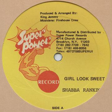 Shabba Ranks - Girl Look Sweet; Version (12