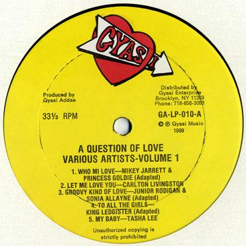 Various - A Question Of Love Volume 1 (Plane Sleeve) (LP)